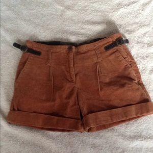 🍁🍂GIANNI BINI BROWN CORDAROY SHORTS SIZE 27🍁🍂